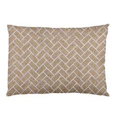 BRICK2 WHITE MARBLE & SAND Pillow Case