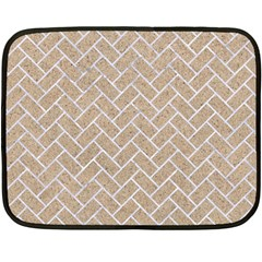 Brick2 White Marble & Sand Double Sided Fleece Blanket (mini)