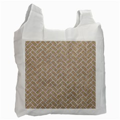 BRICK2 WHITE MARBLE & SAND Recycle Bag (One Side)