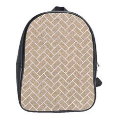 Brick2 White Marble & Sand School Bag (large)