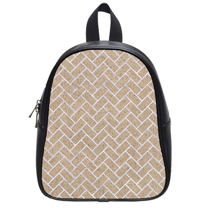 BRICK2 WHITE MARBLE & SAND School Bag (Small)