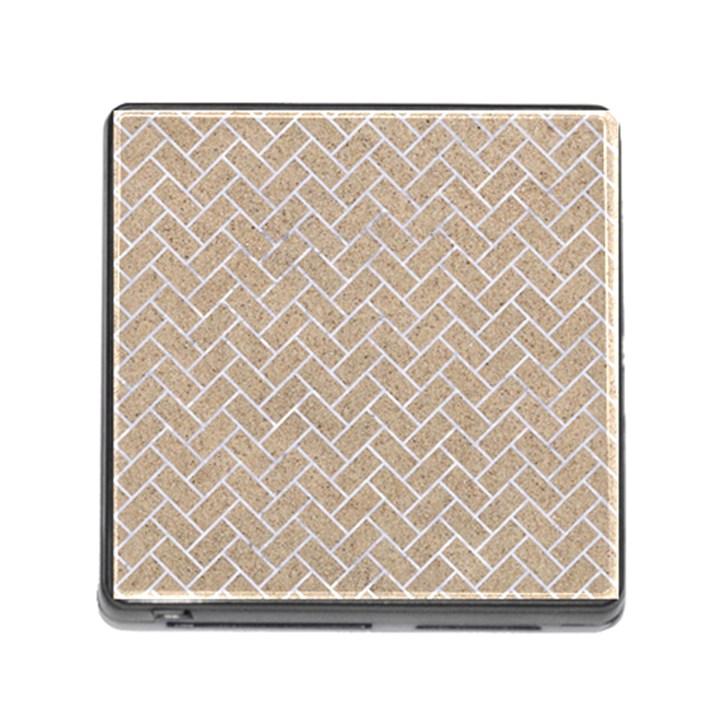 BRICK2 WHITE MARBLE & SAND Memory Card Reader (Square)