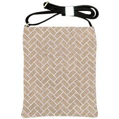 BRICK2 WHITE MARBLE & SAND Shoulder Sling Bags