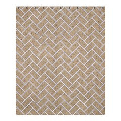 BRICK2 WHITE MARBLE & SAND Shower Curtain 60  x 72  (Medium)