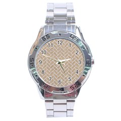 BRICK2 WHITE MARBLE & SAND Stainless Steel Analogue Watch