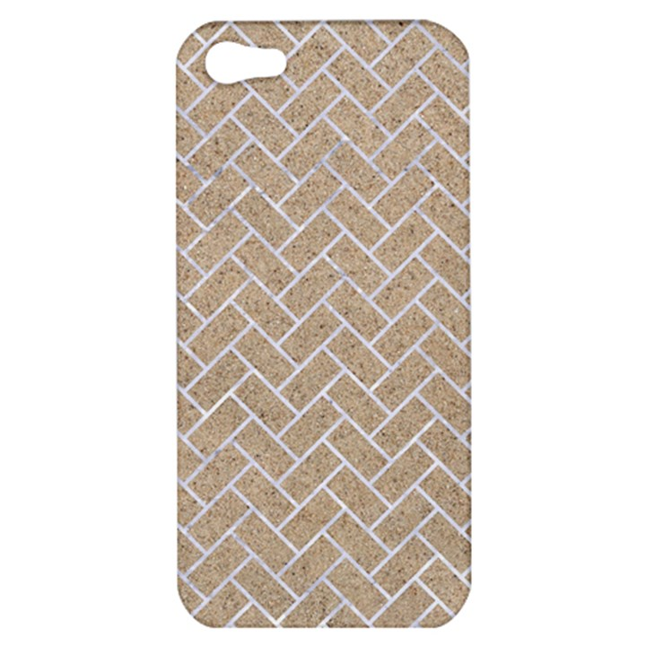 BRICK2 WHITE MARBLE & SAND Apple iPhone 5 Hardshell Case