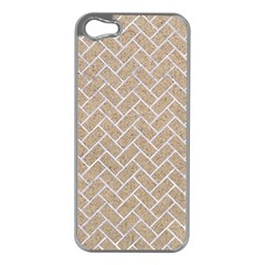 Brick2 White Marble & Sand Apple Iphone 5 Case (silver) by trendistuff