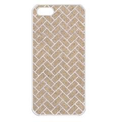 BRICK2 WHITE MARBLE & SAND Apple iPhone 5 Seamless Case (White)