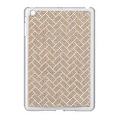 BRICK2 WHITE MARBLE & SAND Apple iPad Mini Case (White)