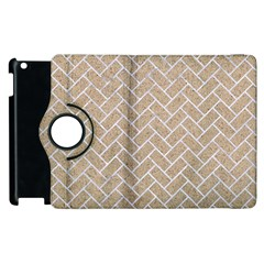 Brick2 White Marble & Sand Apple Ipad 3/4 Flip 360 Case by trendistuff