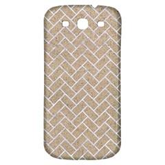 BRICK2 WHITE MARBLE & SAND Samsung Galaxy S3 S III Classic Hardshell Back Case