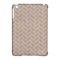 BRICK2 WHITE MARBLE & SAND Apple iPad Mini Hardshell Case (Compatible with Smart Cover)