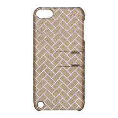 BRICK2 WHITE MARBLE & SAND Apple iPod Touch 5 Hardshell Case with Stand