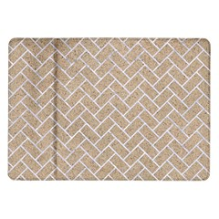 BRICK2 WHITE MARBLE & SAND Samsung Galaxy Tab 10.1  P7500 Flip Case