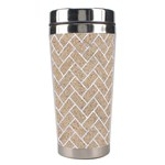 BRICK2 WHITE MARBLE & SAND Stainless Steel Travel Tumblers Left