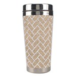 BRICK2 WHITE MARBLE & SAND Stainless Steel Travel Tumblers Center