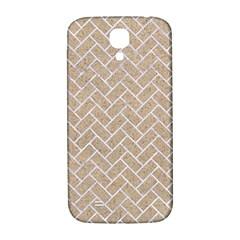 BRICK2 WHITE MARBLE & SAND Samsung Galaxy S4 I9500/I9505  Hardshell Back Case