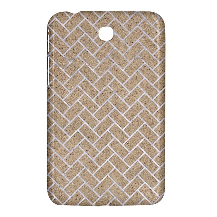 BRICK2 WHITE MARBLE & SAND Samsung Galaxy Tab 3 (7 ) P3200 Hardshell Case