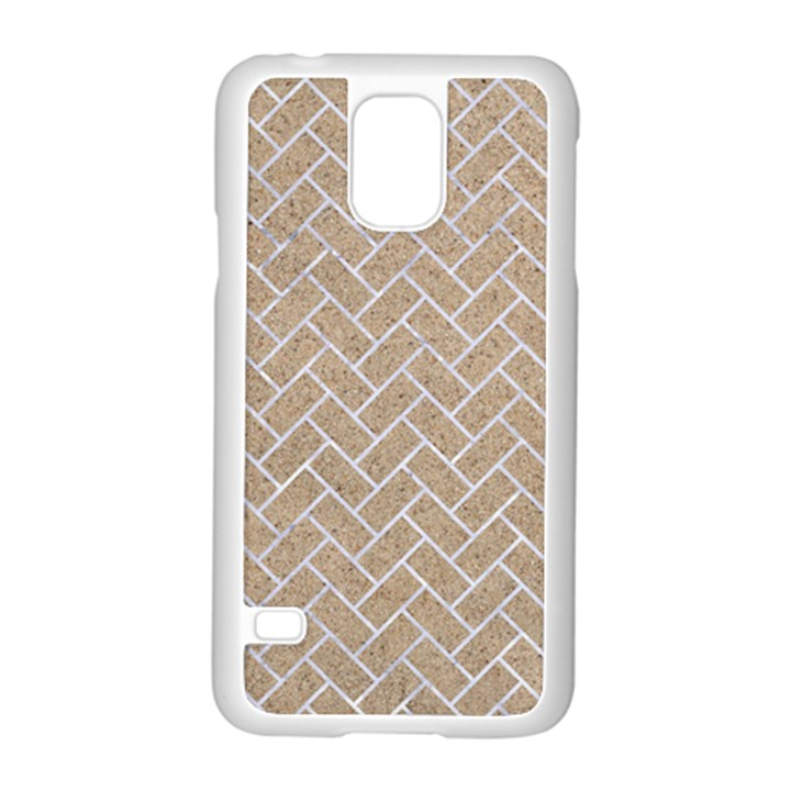 BRICK2 WHITE MARBLE & SAND Samsung Galaxy S5 Case (White)