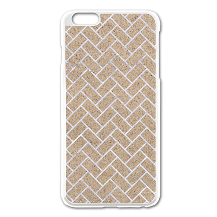 BRICK2 WHITE MARBLE & SAND Apple iPhone 6 Plus/6S Plus Enamel White Case