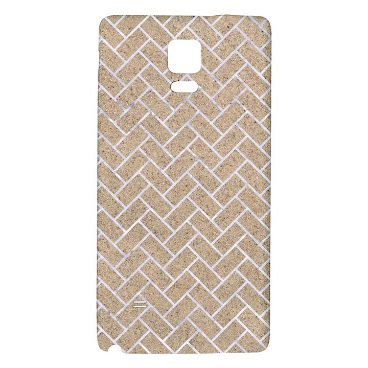 BRICK2 WHITE MARBLE & SAND Galaxy Note 4 Back Case