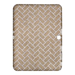 Brick2 White Marble & Sand Samsung Galaxy Tab 4 (10 1 ) Hardshell Case