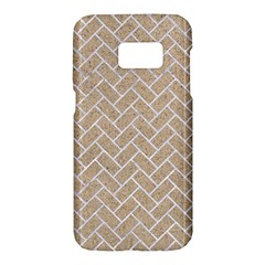 Brick2 White Marble & Sand Samsung Galaxy S7 Hardshell Case