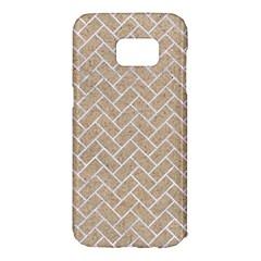 BRICK2 WHITE MARBLE & SAND Samsung Galaxy S7 Edge Hardshell Case