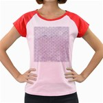 BRICK1 WHITE MARBLE & SAND (R) Women s Cap Sleeve T-Shirt Front