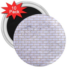 Brick1 White Marble & Sand (r) 3  Magnets (10 Pack)