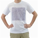 BRICK1 WHITE MARBLE & SAND (R) Men s T-Shirt (White) (Two Sided) Front