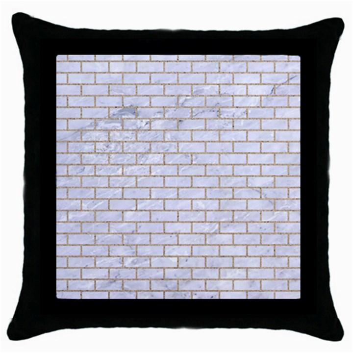BRICK1 WHITE MARBLE & SAND (R) Throw Pillow Case (Black)
