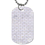 BRICK1 WHITE MARBLE & SAND (R) Dog Tag (Two Sides) Front
