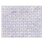 BRICK1 WHITE MARBLE & SAND (R) Rectangular Jigsaw Puzzl Front
