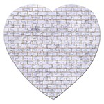 BRICK1 WHITE MARBLE & SAND (R) Jigsaw Puzzle (Heart) Front