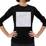 BRICK1 WHITE MARBLE & SAND (R) Women s Long Sleeve Dark T-Shirts Front