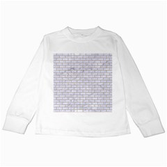 Brick1 White Marble & Sand (r) Kids Long Sleeve T Shirts