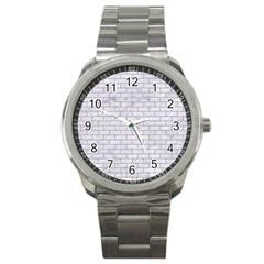 Brick1 White Marble & Sand (r) Sport Metal Watch by trendistuff