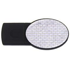 Brick1 White Marble & Sand (r) Usb Flash Drive Oval (4 Gb)