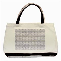 Brick1 White Marble & Sand (r) Basic Tote Bag
