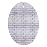 BRICK1 WHITE MARBLE & SAND (R) Oval Ornament (Two Sides) Front