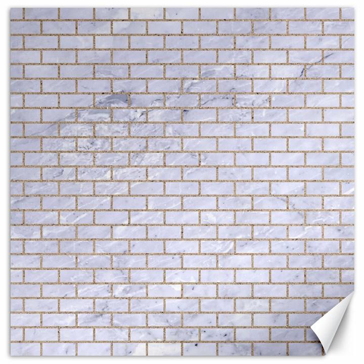 BRICK1 WHITE MARBLE & SAND (R) Canvas 16  x 16