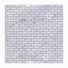 Brick1 White Marble & Sand (r) Medium Glasses Cloth