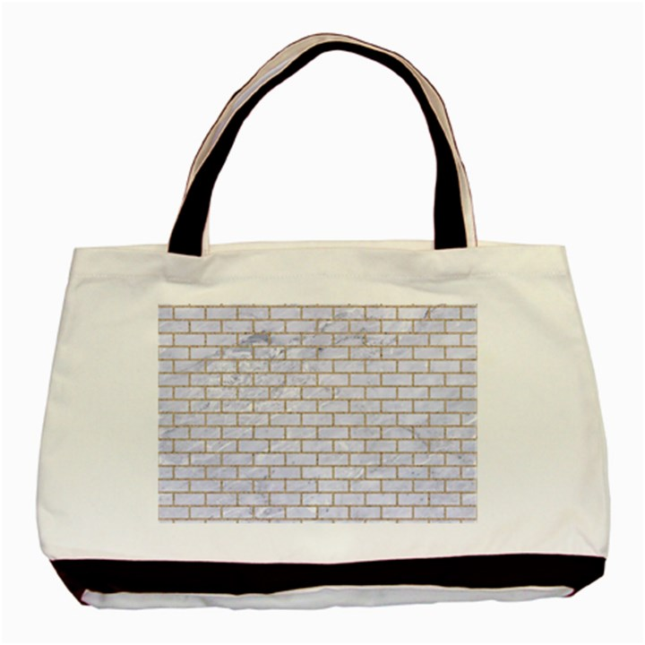 BRICK1 WHITE MARBLE & SAND (R) Basic Tote Bag (Two Sides)
