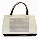 BRICK1 WHITE MARBLE & SAND (R) Basic Tote Bag (Two Sides) Back