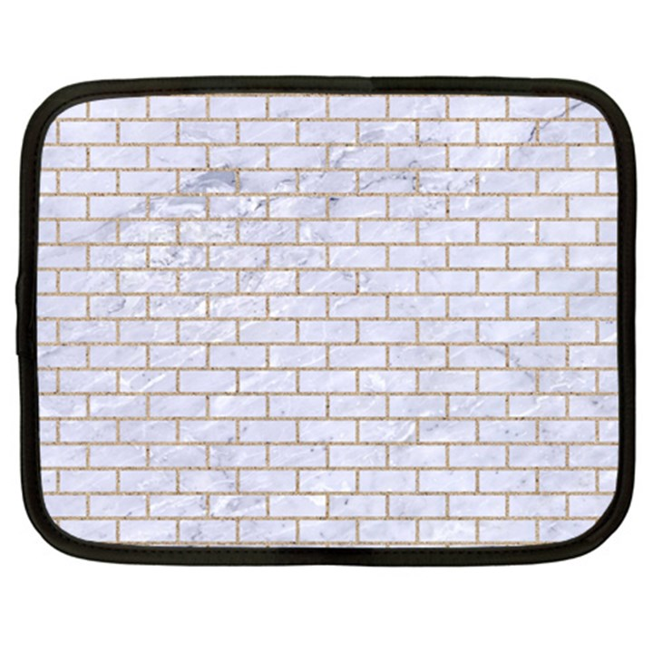BRICK1 WHITE MARBLE & SAND (R) Netbook Case (Large)