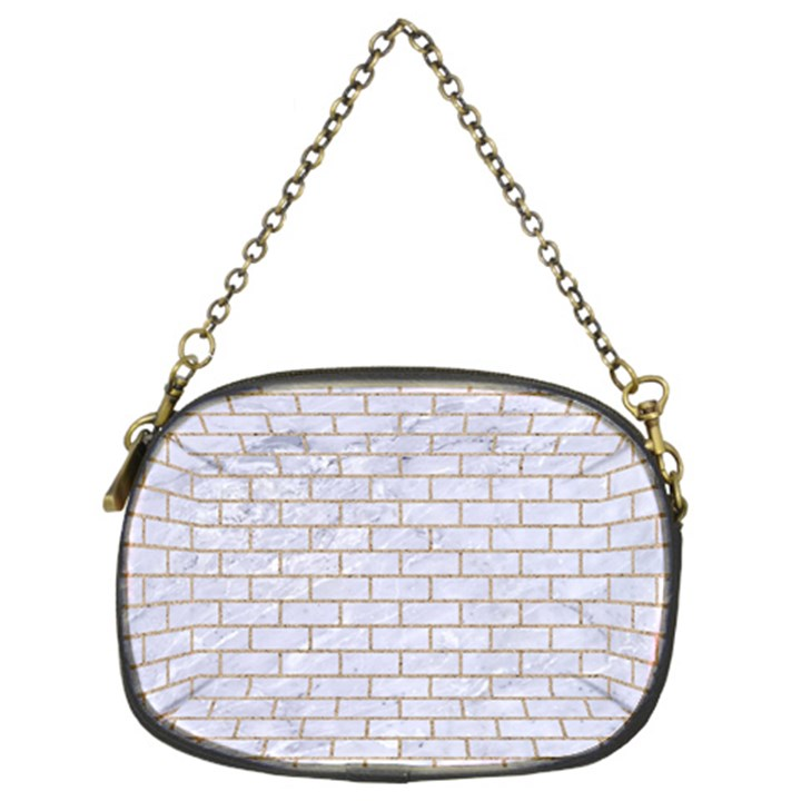 BRICK1 WHITE MARBLE & SAND (R) Chain Purses (Two Sides)