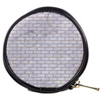 BRICK1 WHITE MARBLE & SAND (R) Mini Makeup Bags Front