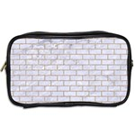 BRICK1 WHITE MARBLE & SAND (R) Toiletries Bags 2-Side Back