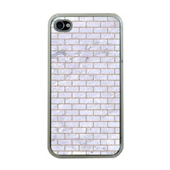 Brick1 White Marble & Sand (r) Apple Iphone 4 Case (clear)